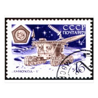 Robot de espacio ruso Lunokhod-1 Tarjetas Postales