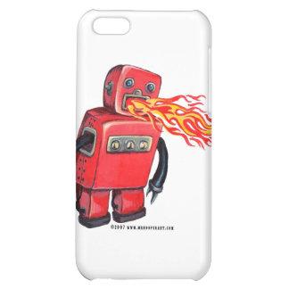 Robot de Fuego-respiración rojo