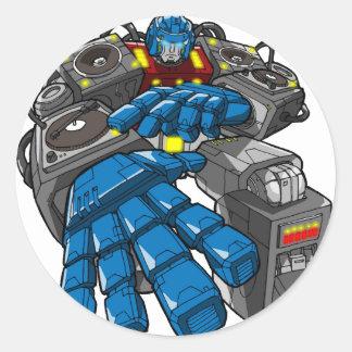 Robot de Hip Hop Etiqueta