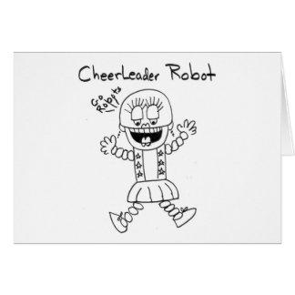Robot de la animadora tarjeta de felicitación