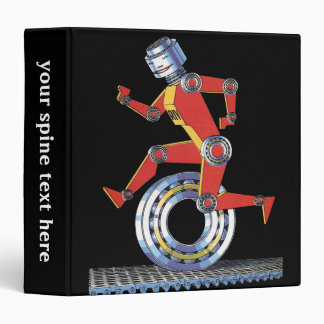 """Robot de la ciencia ficción del vintage, carpeta 1 1/2"""""""