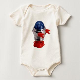 Robot de la conclusión del vintage mameluco de bebé