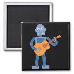 Robot de la guitarra imán cuadrado