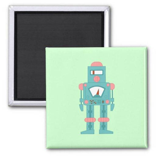 Robot de la sirena del espacio exterior iman de frigorífico