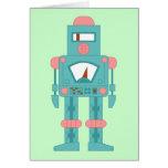 Robot de la sirena del espacio exterior tarjeton