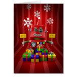 Robot de las Felices Navidad Felicitacion