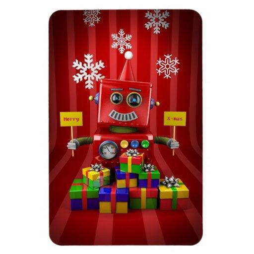 Robot de las Felices Navidad Imán Flexible