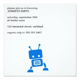 Robot de los azules cielos invitación 13,3 cm x 13,3cm