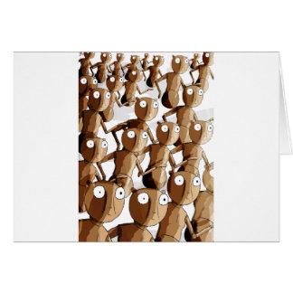 Robot de madera de baile Gofers Tarjeta De Felicitación