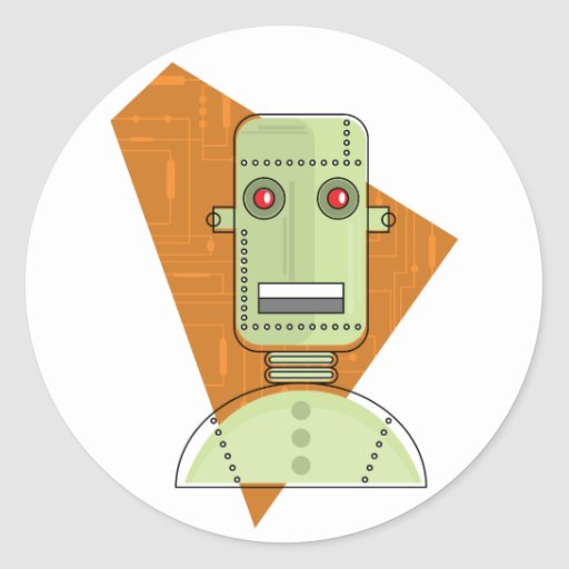 Robot de Steampunk Etiqueta
