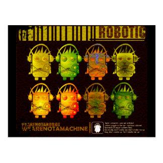 Robot de Techno Tarjetas Postales
