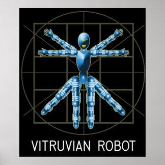 Robot de Vitruvian Póster