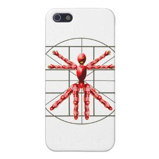 Robot de Vitruvian - rojo iPhone 5 Carcasa