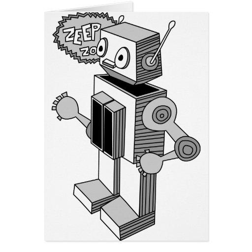 Robot de Zeep Zop Tarjeta De Felicitación
