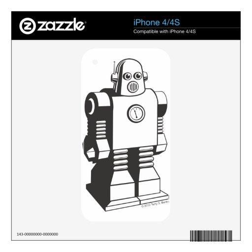Robot Decal For iPhone 4S