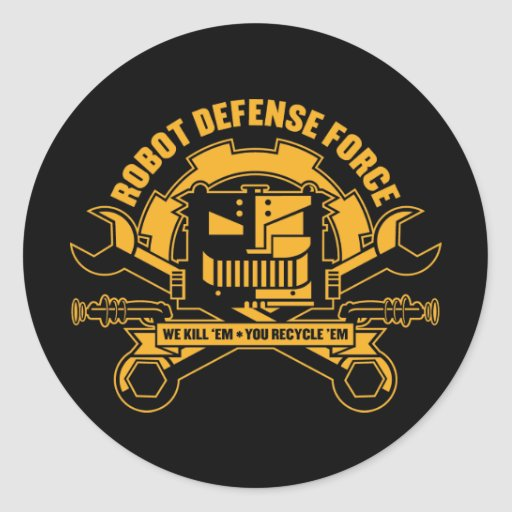 Robot Defense Force Sticker