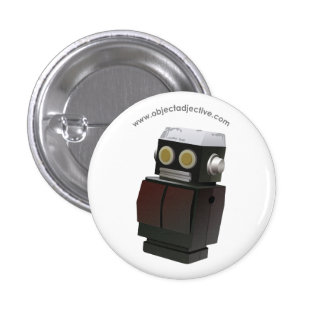 Robot del adjetivo del objeto pin redondo de 1 pulgada