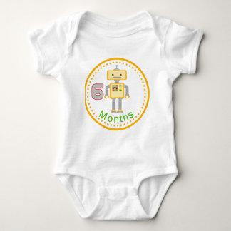 Robot del amarillo de la camisa del bebé de 6