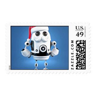 Robot del androide de Santa Estampillas