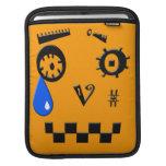 Robot del ASCII que vierte un rasgón Fundas Para iPads