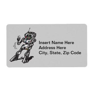 Robot del baile etiquetas de envío