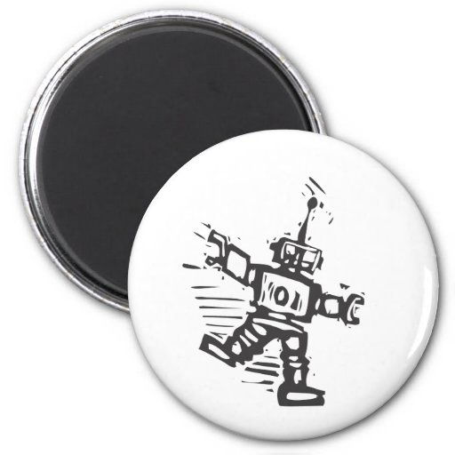 Robot del baile imanes para frigoríficos