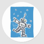 Robot del baile pegatina redonda
