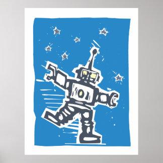 Robot del baile impresiones