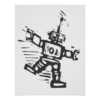 Robot del baile posters