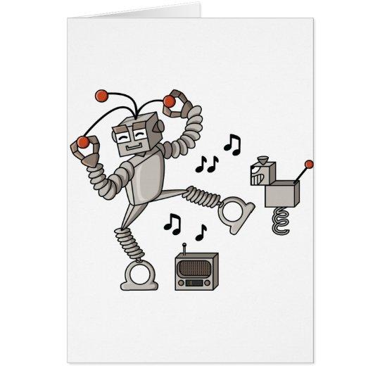 Robot del baile tarjeta de felicitación