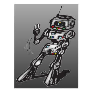 Robot del baile tarjetas postales