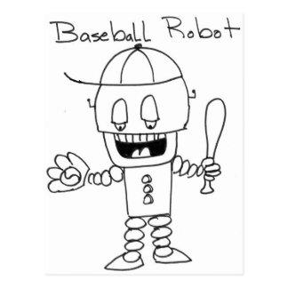 Robot del béisbol postales