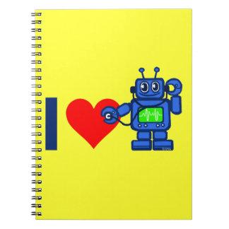 Robot del corazón I Spiral Notebook