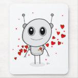 Robot del corazón - Mousepad Tapetes De Ratón