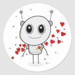 Robot del corazón - pegatinas