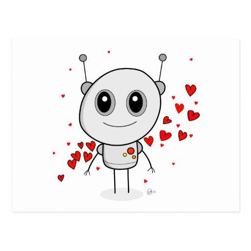 Robot del corazón - postal