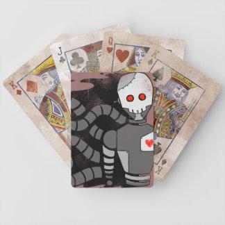 Robot del cráneo baraja de cartas