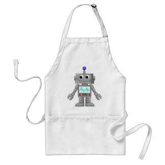 Robot del dibujo animado delantal