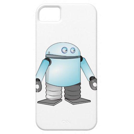 Robot del dibujo animado iPhone 5 funda