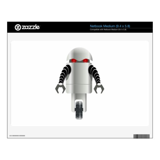 Robot del dibujo animado skins para netbooks medianos