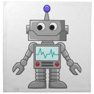 Robot del dibujo animado servilletas de papel