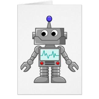 robot del dibujo animado felicitación