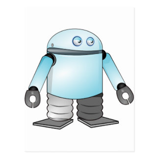 Robot del dibujo animado postal