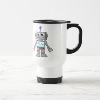 Robot del dibujo animado taza térmica