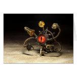 Robot del espectador de Steampunk Tarjeta De Felicitación