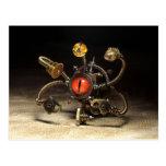 Robot del espectador de Steampunk Tarjeta Postal