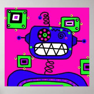 Robot del estallido póster