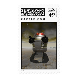 Robot del juguete en un franqueo extranjero del pl