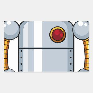 Robot del juguete pegatina rectangular