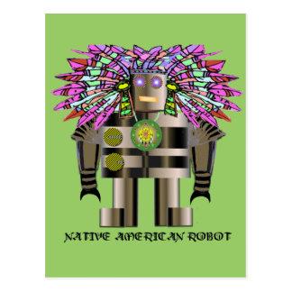 Robot del nativo americano postal